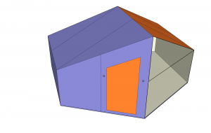 simple model of a H13 style hexayurt